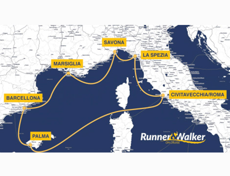 Runner e Walker on cruise percorso crocera