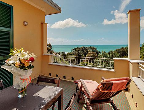 hotel 3 stelle Lerici vista dal balcone