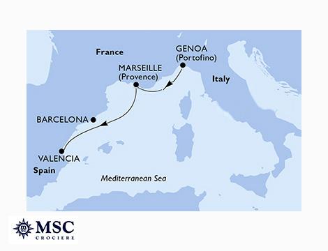 MSC Opera Genova, Marsiglia, Valencia_N
