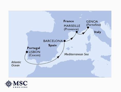 MSC Preziosa Portogallo, Spagna, Francia, Italia_N