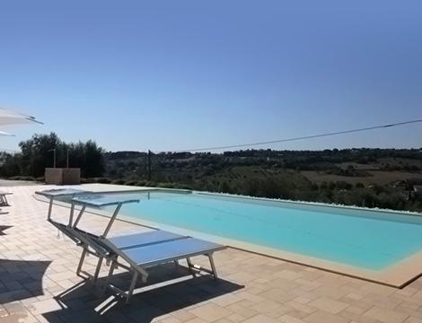 Marche Villa dei Ricordi la piscina