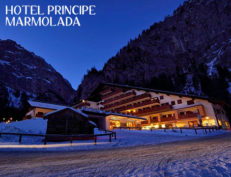 Marmolada: hotel sulle piste