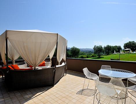 Perugia hotel La Meridiana vista esterna