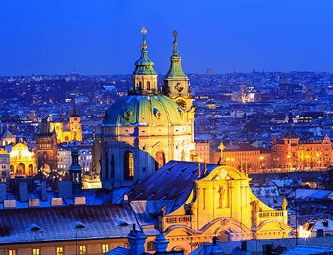 Praga  volo da Roma e hotel