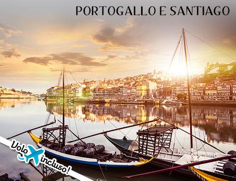 Tour del Portogallo e Santiago: volo + hotel a 969euro