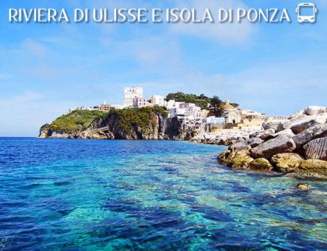 Tour in bus Isola di Ponza e Riviera di Ulisse a 429euro