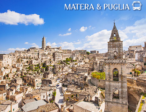 Tour in bus Matera e Puglia a 569euro