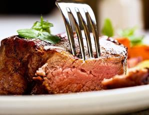 Menu carne con calice